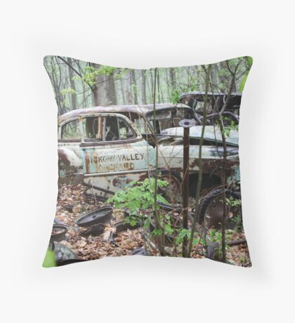 October Old Motor Car Throw Pillow