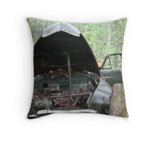 November Old Motor Car Throw Pillow