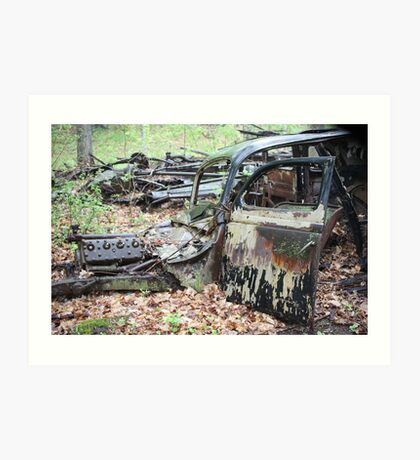 December Old Motor Car Art Print