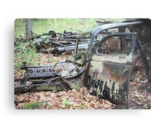 December Old Motor Car Metal Print
