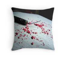 """Your only as loud as the noises you make"" - Fireworks and eraser shavings Throw Pillow"