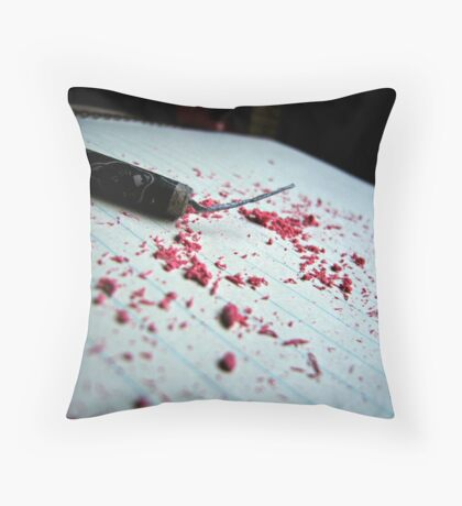 """""""Your only as loud as the noises you make"""" - Fireworks and eraser shavings Throw Pillow"""