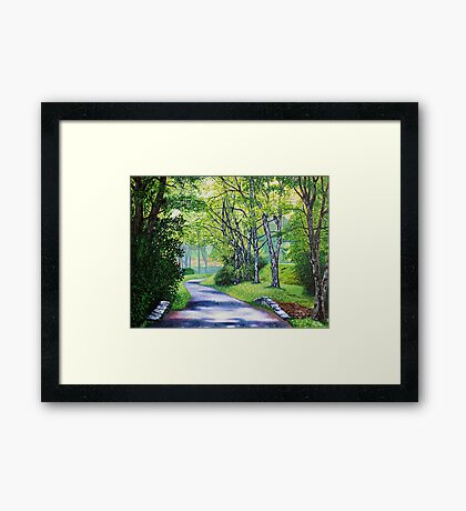 'Summer's Languid Path' Framed Print