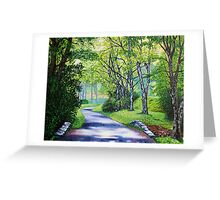 'Summer's Languid Path' Greeting Card