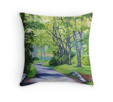 'Summer's Languid Path' Throw Pillow