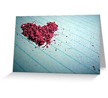"""Blow me away"" - Heart shaped eraser shavings  Greeting Card"