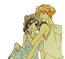 Haruhi Fujioka and Hikaru Hitachiin by merelyAdreamer