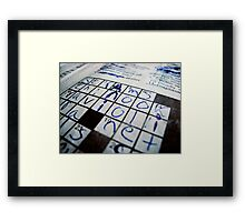 """Q&A"" - Crossword puzzle  Framed Print"