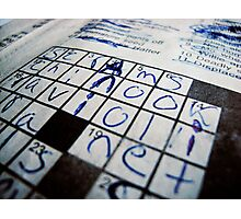 """Q&A"" - Crossword puzzle  Photographic Print"