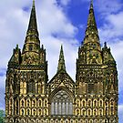 Lichfield Cathedral, the West Front by Rod Johnson