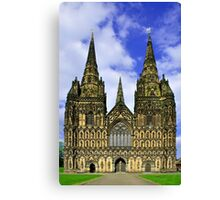 Lichfield Cathedral, the West Front Canvas Print
