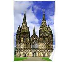 Lichfield Cathedral, the West Front Poster