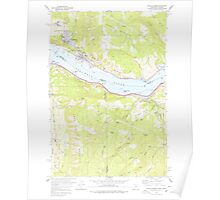 USGS Topo Map Washington White Salmon 244665 1978 24000 Poster