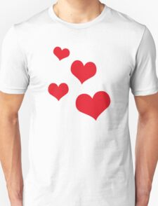 Beautiful hearts Unisex T-Shirt
