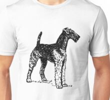 Airedale Terrier Drawing Unisex T-Shirt