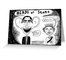 President Obama and Queen Elizabeth II Greeting Card