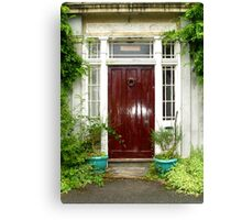 A Walk Around Hazelbank...The front door. Canvas Print