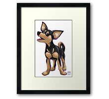 Animal Parade Chihuahua Silhouette Framed Print