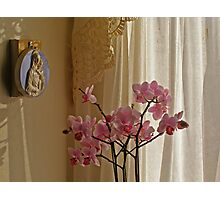 Madonna and the Orchid Photographic Print