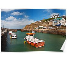 The harbour at Portreath  Poster