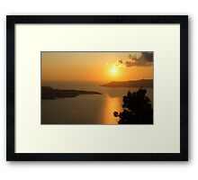 sunset in santorini,greece Framed Print