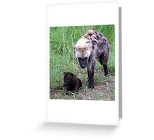 Young Female Hyena with Cub - Kruger National Park Greeting Card