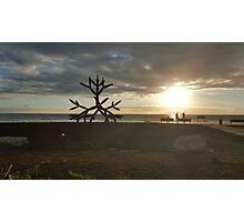 Art & Sea Sunset Photographic Print