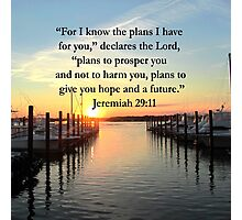 BEAUTIFUL JEREMIAH 29:11 SUNSET PHOTO Photographic Print