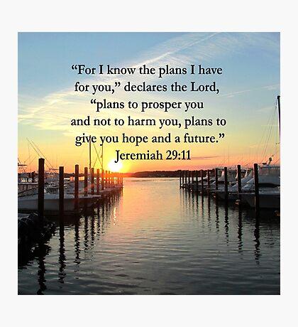 BEAUTIFUL JEREMIAH 29:11 SUNSET PHOTO Photographic Print