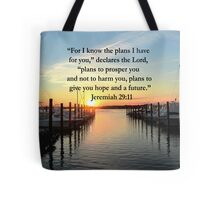 BEAUTIFUL JEREMIAH 29:11 SUNSET PHOTO Tote Bag