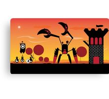 Patapon battle at dawn Canvas Print