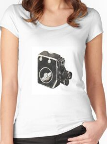 Vintage video camera Women's Fitted Scoop T-Shirt