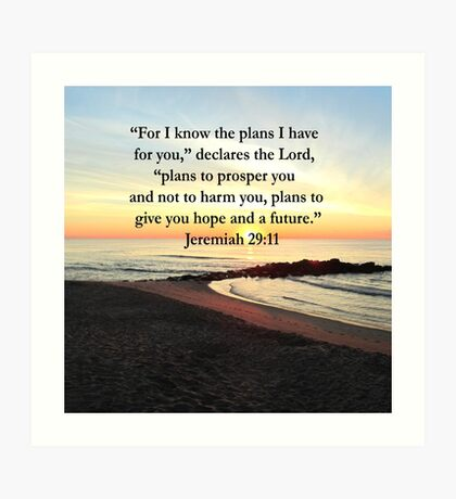 PEACEFUL JEREMIAH 29:11 PHOTO DESIGN Art Print
