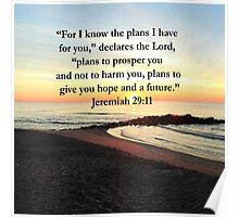 PEACEFUL JEREMIAH 29:11 PHOTO DESIGN Poster