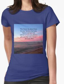 BREATHTAKING JEREMIAH 29:11 PHOTO Womens Fitted T-Shirt