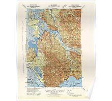 USGS Topo Map Washington Fort Columbia 241170 1943 62500 Poster