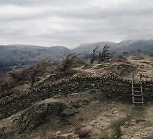 Ladder over Black Fell. by Andrew Briffett