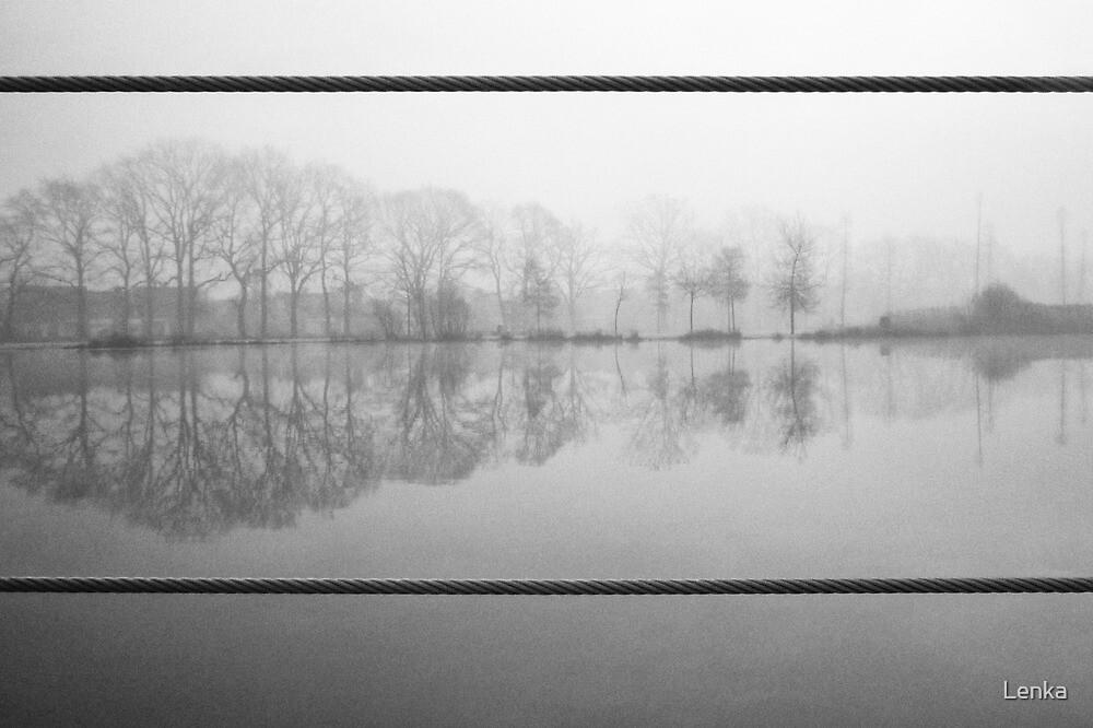 Foggy morning 1 (Reeshofpark series) by Lenka
