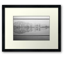 Foggy morning 1 (Reeshofpark series) Framed Print