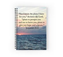 INSPIRING JEREMIAH 29:11 PHOTO DESIGN Spiral Notebook