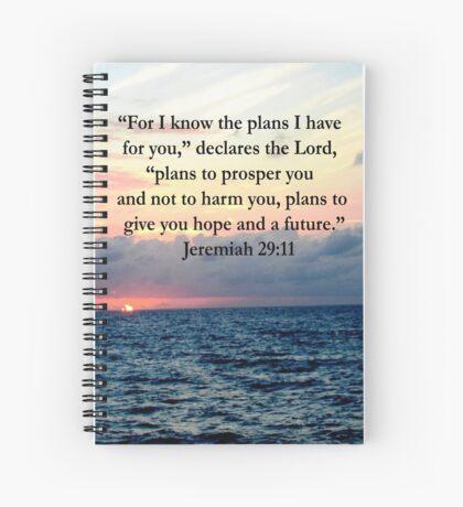 INSPIRING JEREMIAH 29:11 PHOTO DESIGN Spiral Notebook