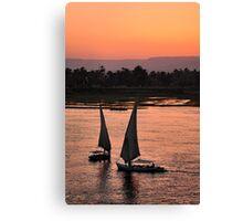 nile sunset.. Canvas Print