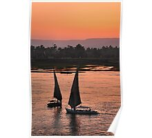 nile sunset.. Poster