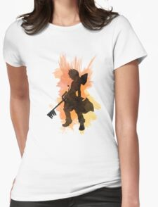 Kingdom Hearts: Watercolor Roxas Womens Fitted T-Shirt