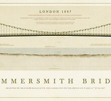 Hammersmith Bridge London by Old-Lundenwic