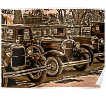 The Village Four - Ford Model A's Poster
