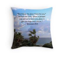 TROPICAL JEREMIAH 29:11 PHOTO Throw Pillow