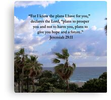 TROPICAL JEREMIAH 29:11 PHOTO Canvas Print