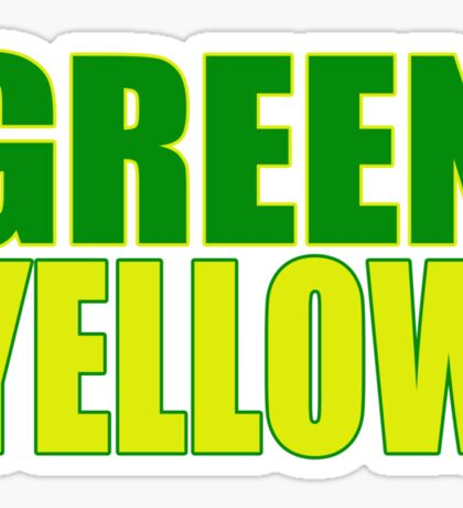 GREEN & YELLOW Sticker