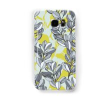 Leaf and Berry Sketch Pattern in Mustard and Ash Samsung Galaxy Case/Skin